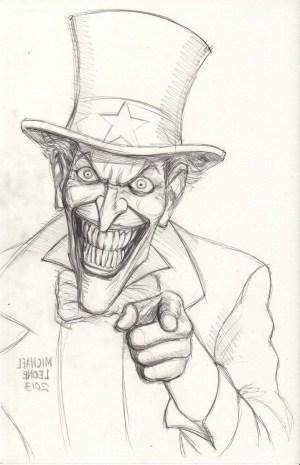 drawing joker simple easy batman drawings paintingvalley
