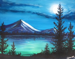 simple painting paintings paint landscape easy drawing mountain acrylic canvas lake drawings events party bars local sip nature nite host