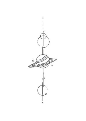 simple line drawing geometric planet artists space drawings paintingvalley
