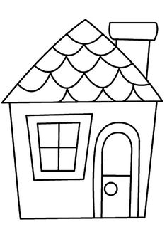 Simple Line Drawing Of A House at PaintingValley.com