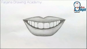 lips smile easy sketch drawing smiling mouth simple draw beginners laughing way drawings sketches paintingvalley tutorial amazing