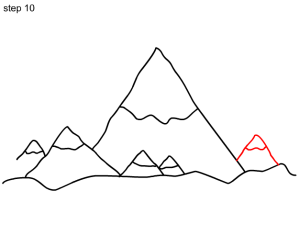 mountain drawing simple mountains drawings basic paintingvalley ex