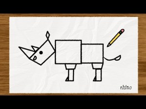 simple shapes drawing shape sketches drawings draw rhino paintingvalley