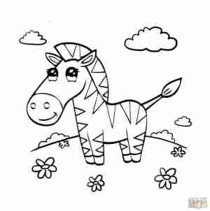 zebra drawing simple easy paintingvalley eas
