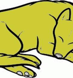 sleeping dog drawing [ 1280 x 720 Pixel ]