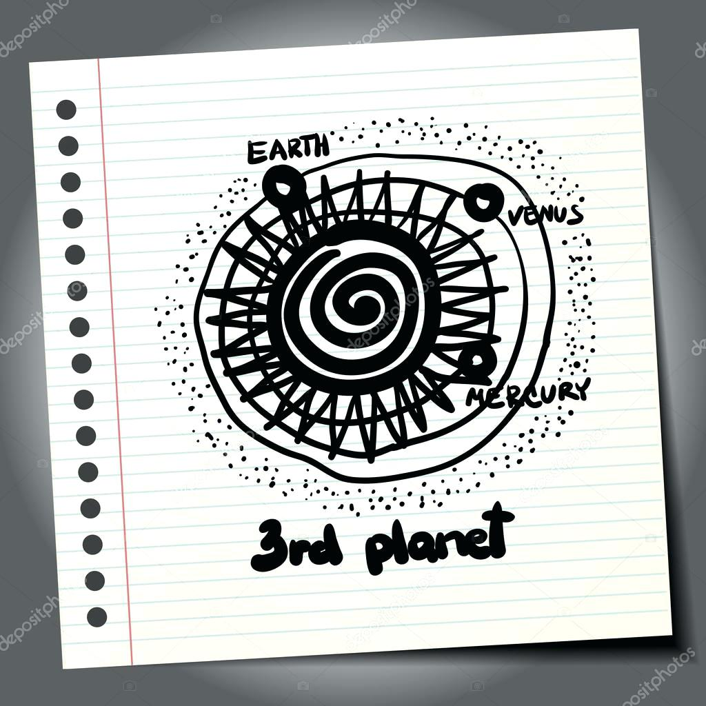 Geometric Easy Solar System Drawing
