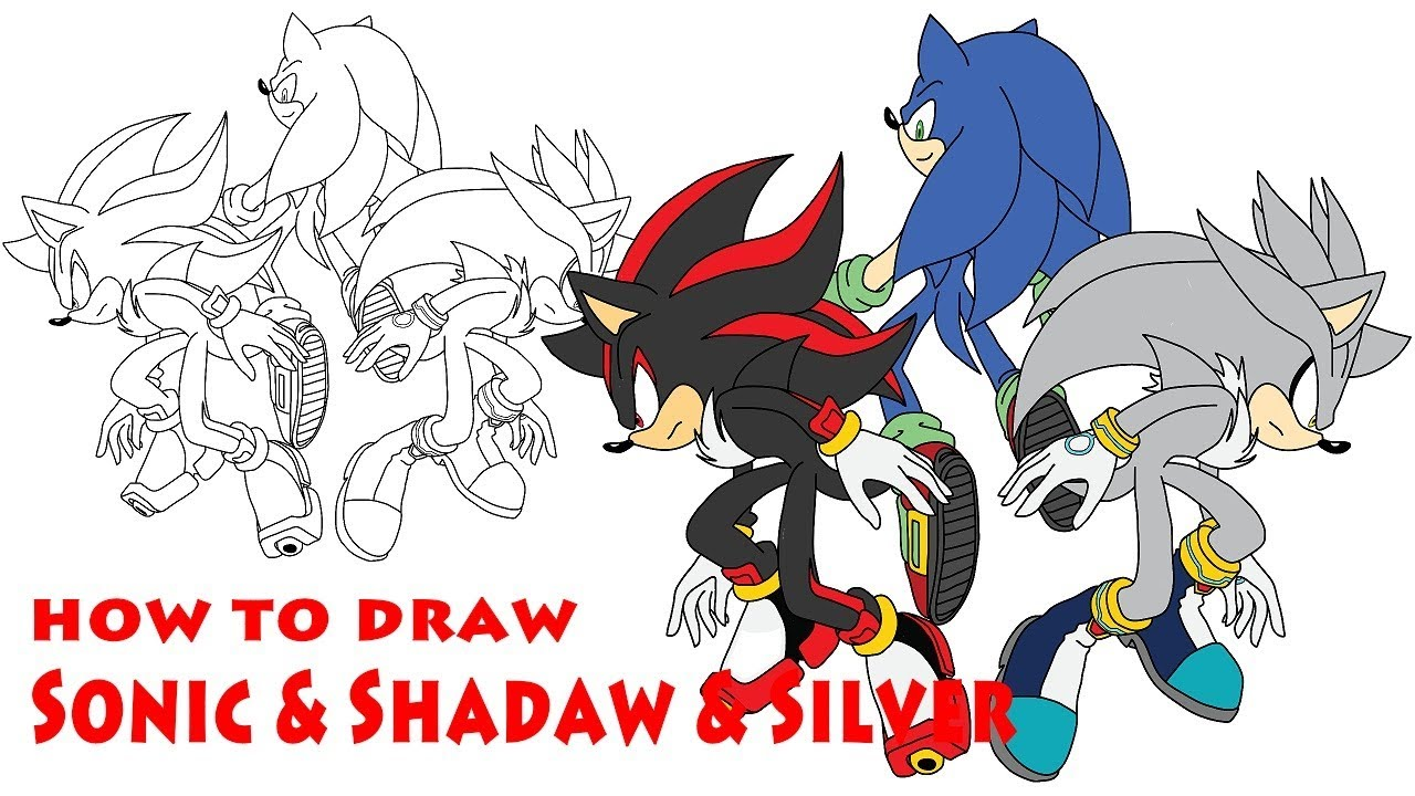 sonic and shadow drawings