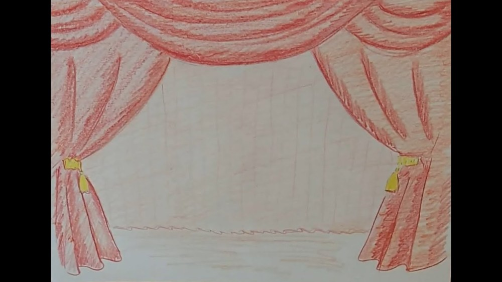 medium resolution of 1280x720 draw a curtain stage curtains drawing