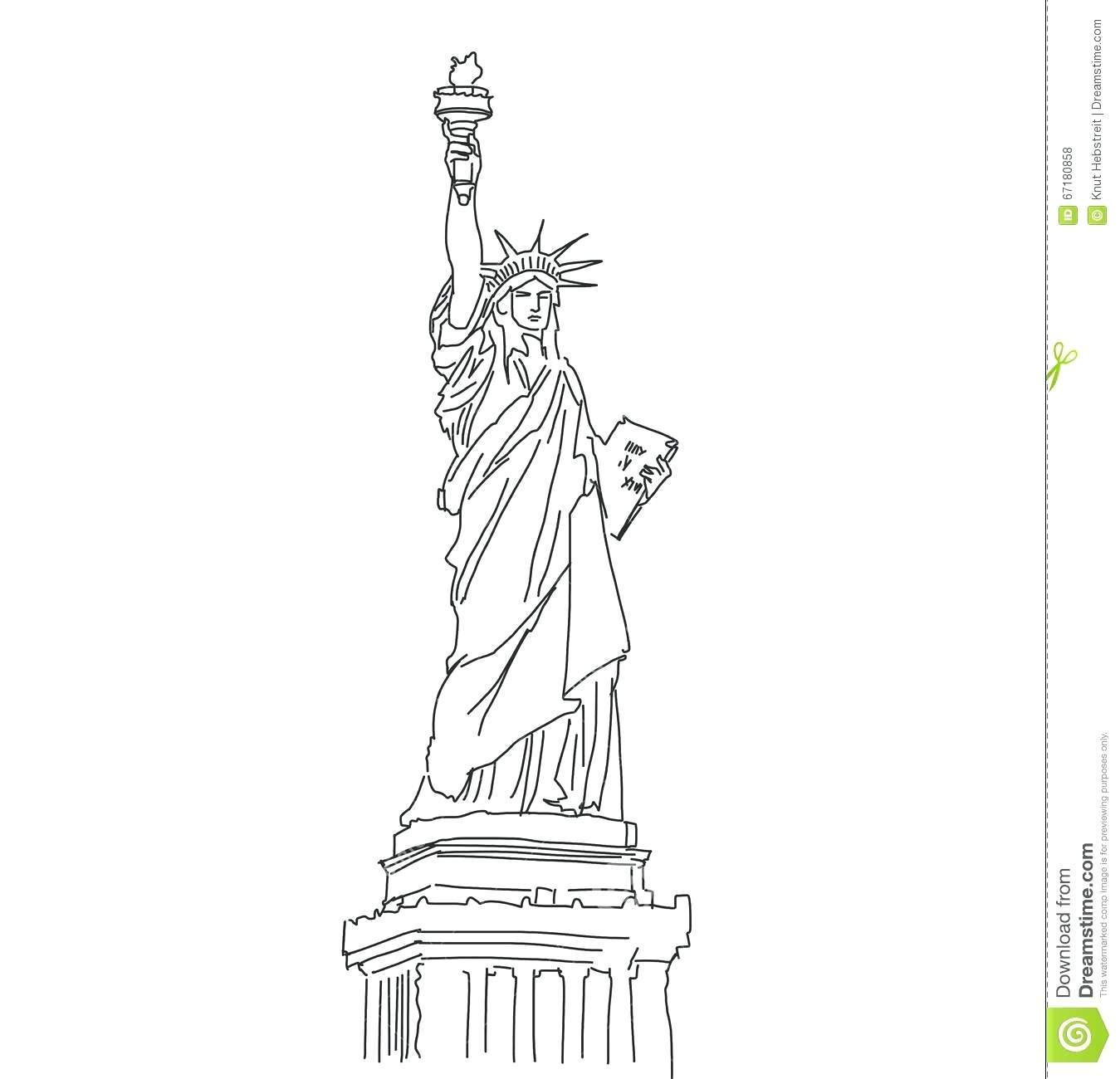 Statue Of Liberty Drawing Template At Paintingvalley