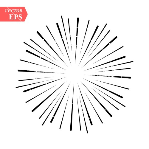 small resolution of 1000x1000 burst of sun rays in hipster line style vector graphic lines sun rays drawing