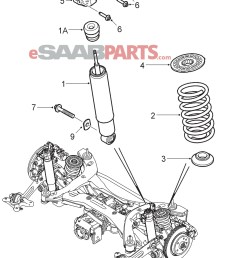 1933x2546 saab rear shock absorber xwd suspension drawing [ 1933 x 2546 Pixel ]