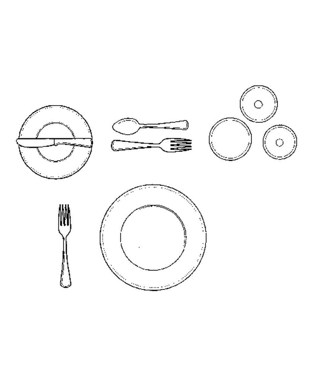 Table Setting Drawing At Paintingvalley
