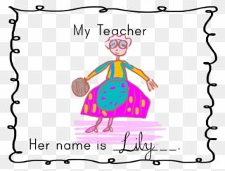 teacher teaching drawing at