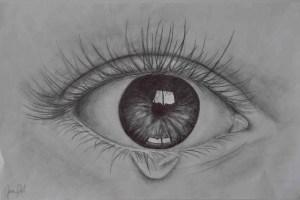 eyes drawing tears sad easy drawings pencil paintingvalley drawin