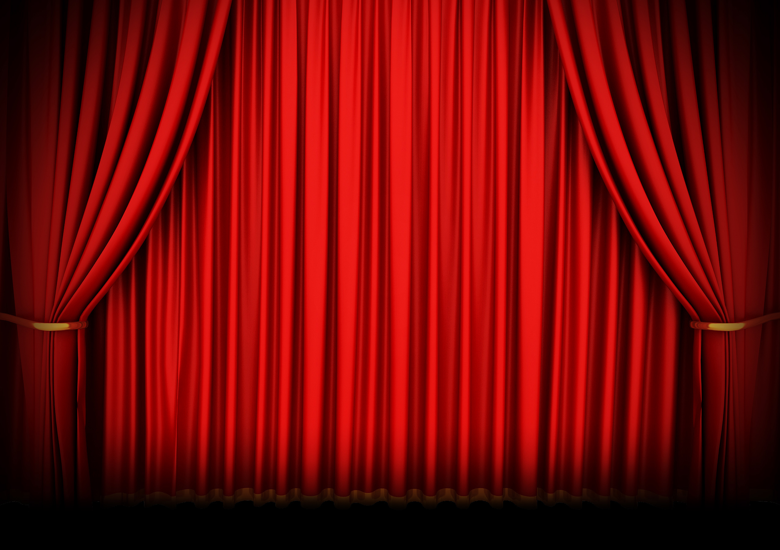 theater curtains drawing at