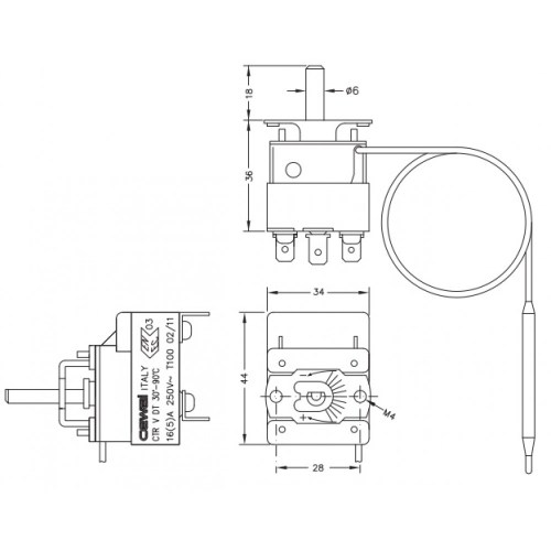 small resolution of 1000x1000 capillary thermostat cewal thermostat drawing