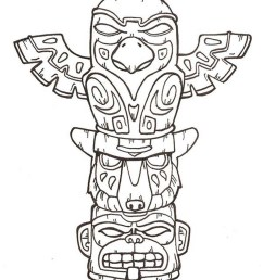 900x1101 totem pole faces coloring pages awesome totem pole drawing easy totem pole drawing easy [ 900 x 1101 Pixel ]