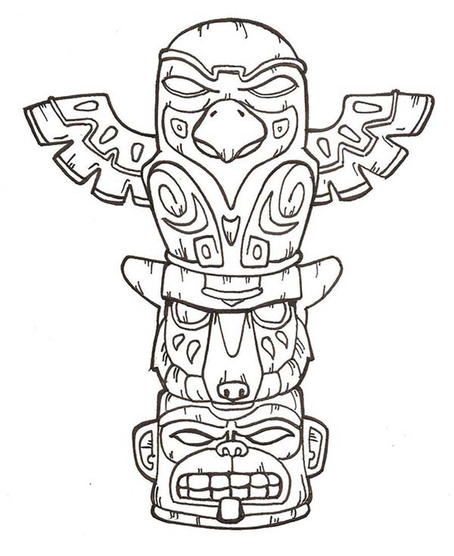 hight resolution of 900x1101 totem pole faces coloring pages awesome totem pole drawing easy totem pole drawing easy