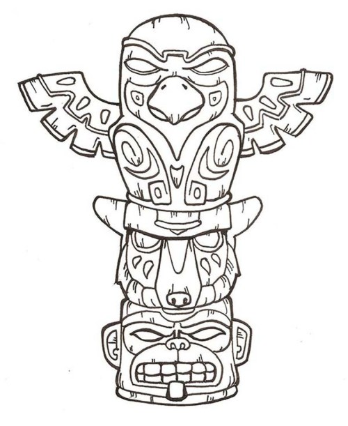 small resolution of 900x1101 totem pole faces coloring pages awesome totem pole drawing easy totem pole drawing easy