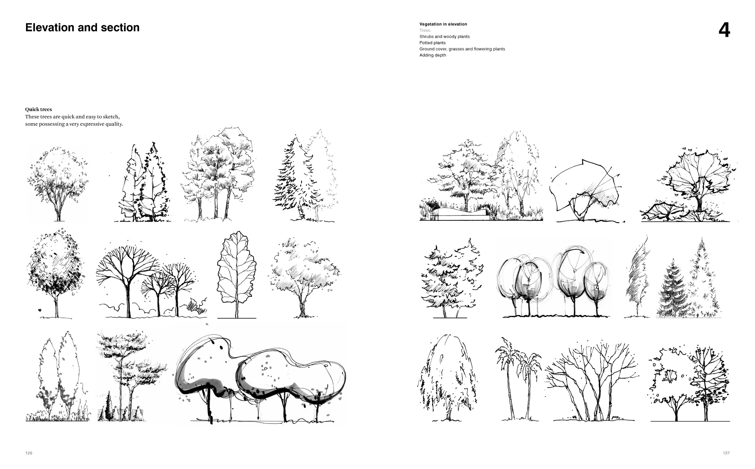 Tree Architecture Drawing At Paintingvalley