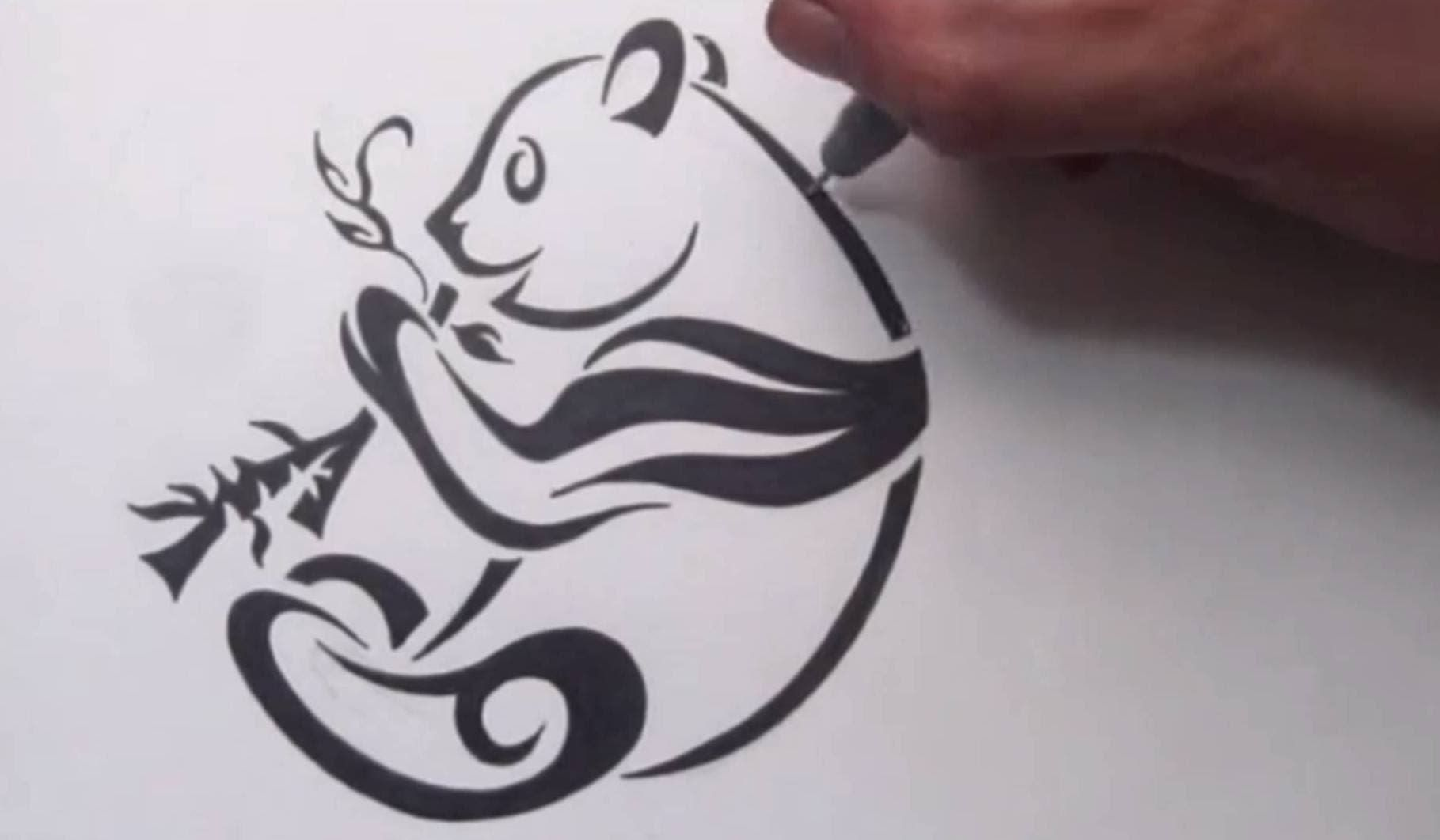 Drawing A Simple Tribal Tattoo Design