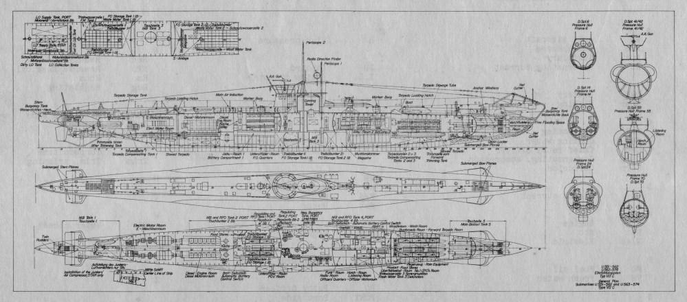 medium resolution of 6238x2750 filetype viic u boat schematic drawing u boat drawing