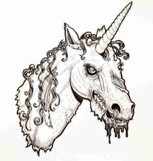unicorn easy draw drawing head drawings