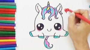 unicorn drawing easy draw simple cartoon drawings getdrawings step unicorns sketch paintingvalley kawaii super doodle