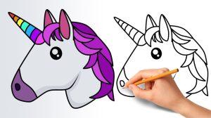 unicorn emoji draw step drawing easy head cartoon simple emojis clipart drawings kawaii paintingvalley way nose explore clipartmag getdrawings paper