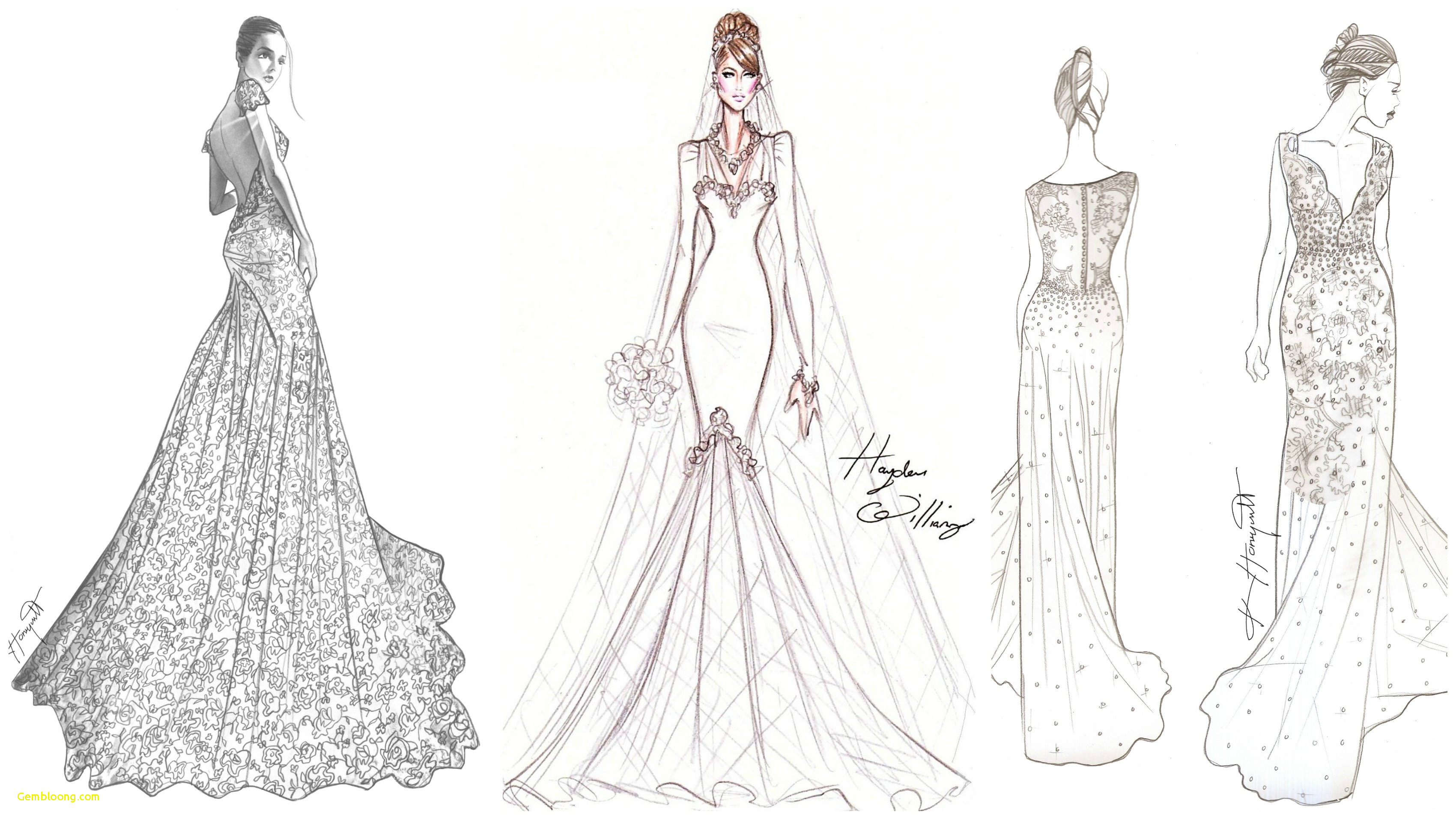 Wedding Gown Drawing At Paintingvalley