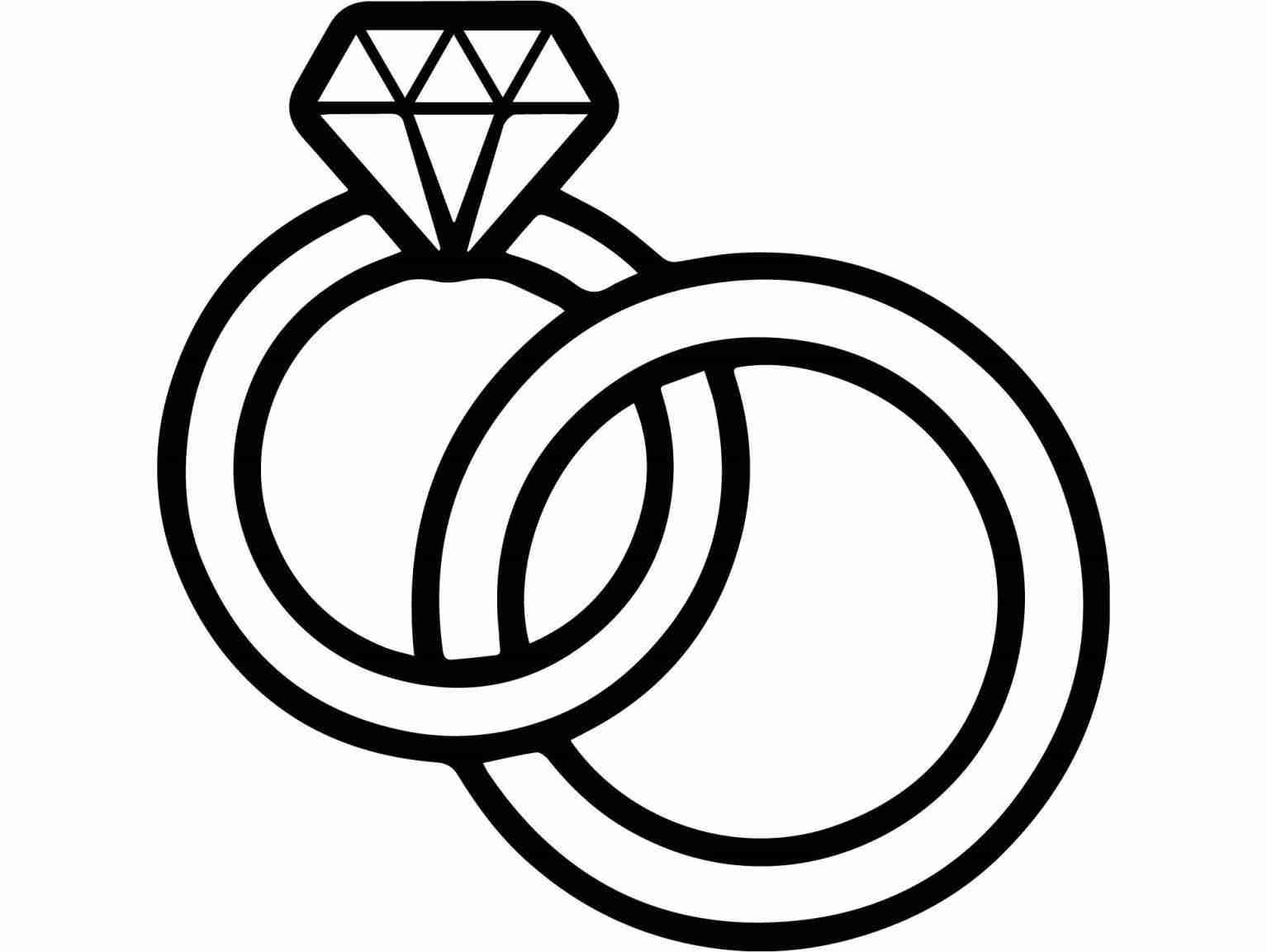 wedding ring drawing at