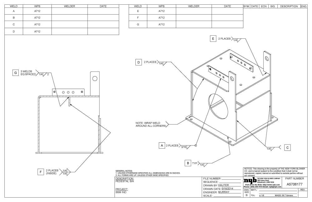 medium resolution of 3400x2200 weld documentation new york blower company welding drawing
