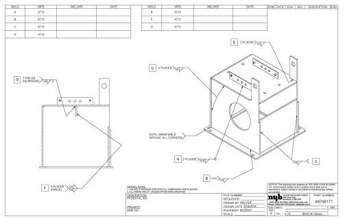 small resolution of 3400x2200 weld documentation new york blower company welding drawing