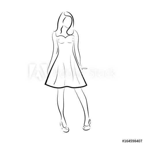 woman outline drawing at