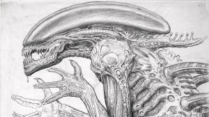 alien drawing xenomorph seen sketches drawings birth paintingvalley never before sk