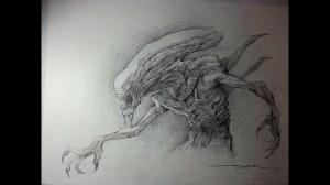 drawing xenomorph alien drawings paintingvalley speed