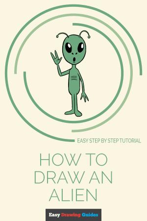 alien drawing draw easy xenomorph drawings step tutorial tutorials aliens paintingvalley cartoon