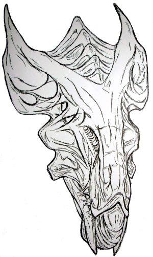 xenomorph drawing easy drawings paintingvalley
