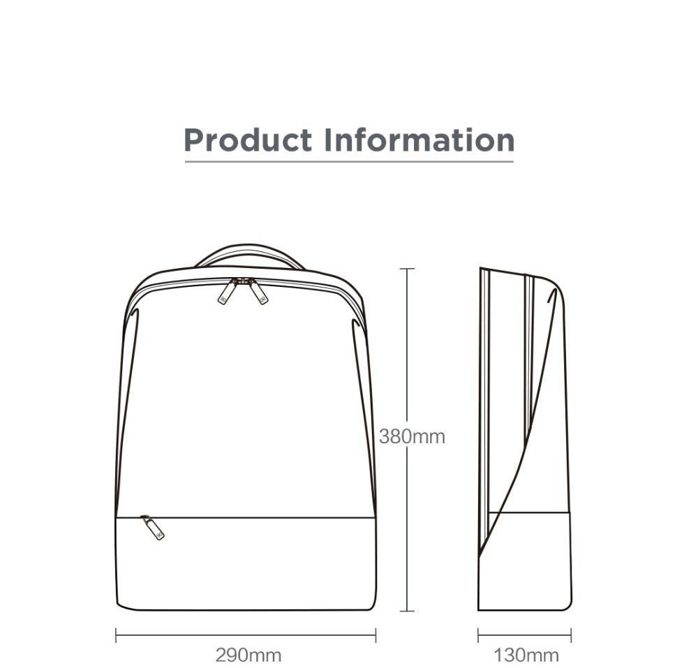 hight resolution of 1000x957 concise backpack anti theft zipper inch laptop bag college zipper technical drawing