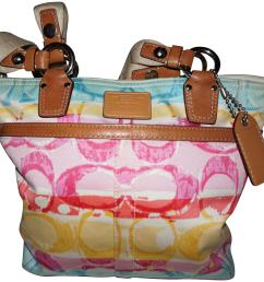 3651x3416 coach a0773 10025 hampton watercolor canvas tote coach watercolor purse [ 3651 x 3416 Pixel ]