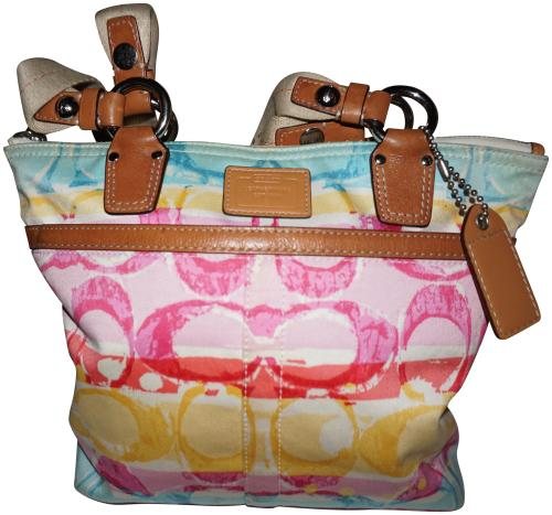 small resolution of 3651x3416 coach a0773 10025 hampton watercolor canvas tote coach watercolor purse
