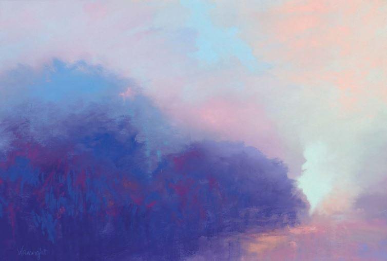 abstract pastel painting at