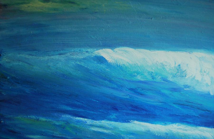 abstract wave painting at