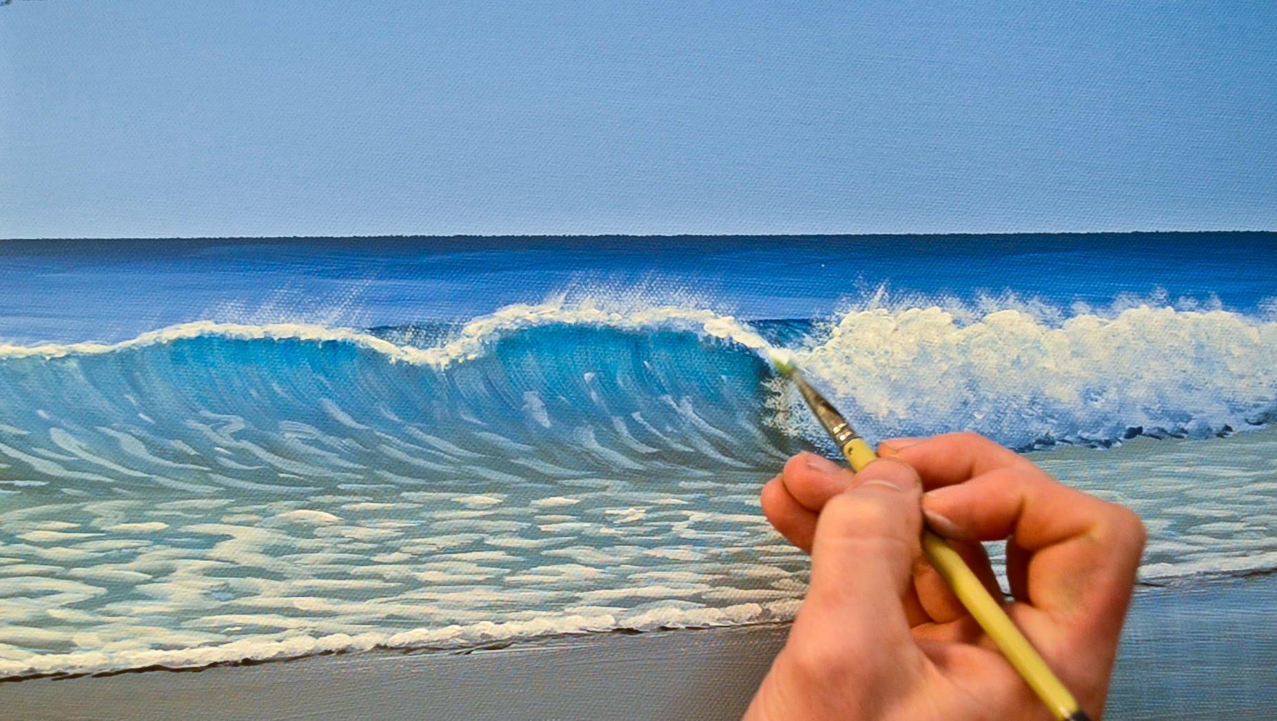 beach waves painting at