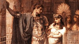 Image result for caesar cleopatra painting