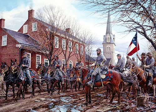 confederate generals painting at