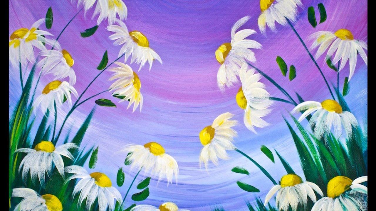 Flower Painting Ideas For Beginners Arte Inspire