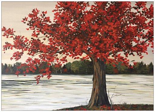maple tree painting at