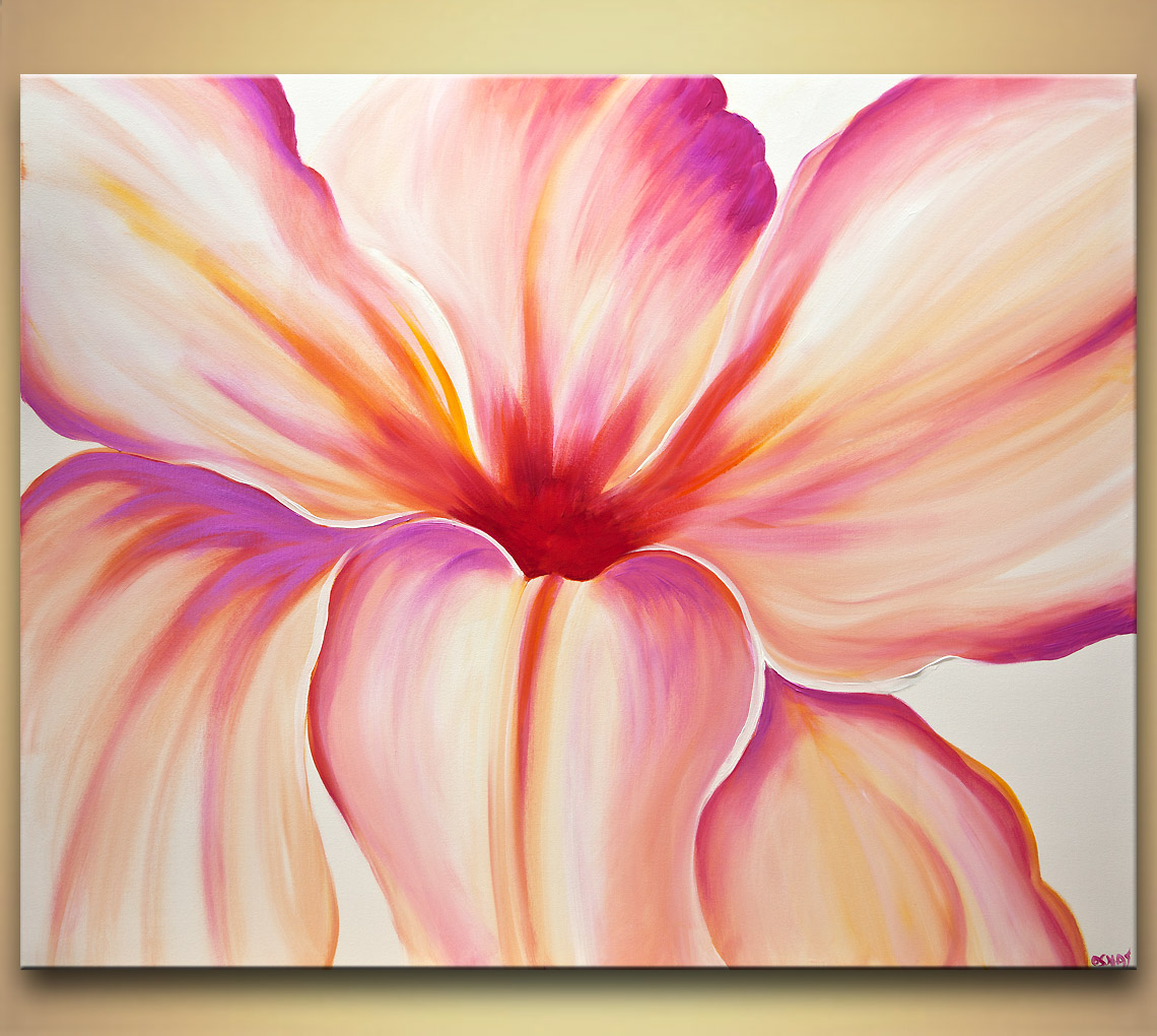 modern flower painting at