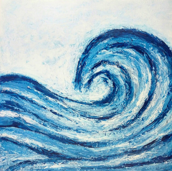 ocean waves painting at